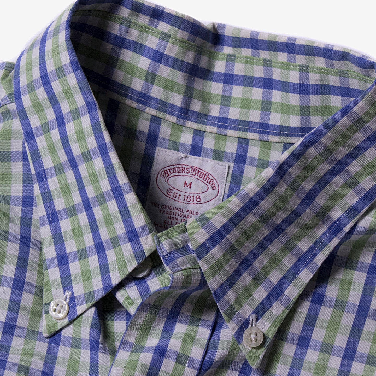 Brooks Brothers / Checked Blue/Green Shirt