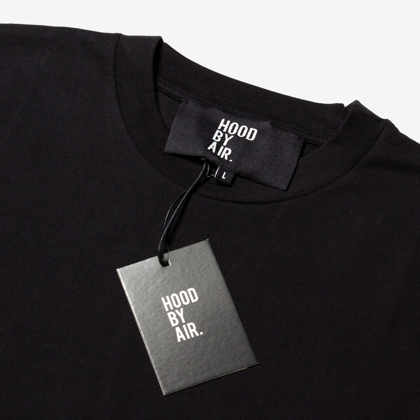 HOOD BY AIR / Black Logo T-shirt