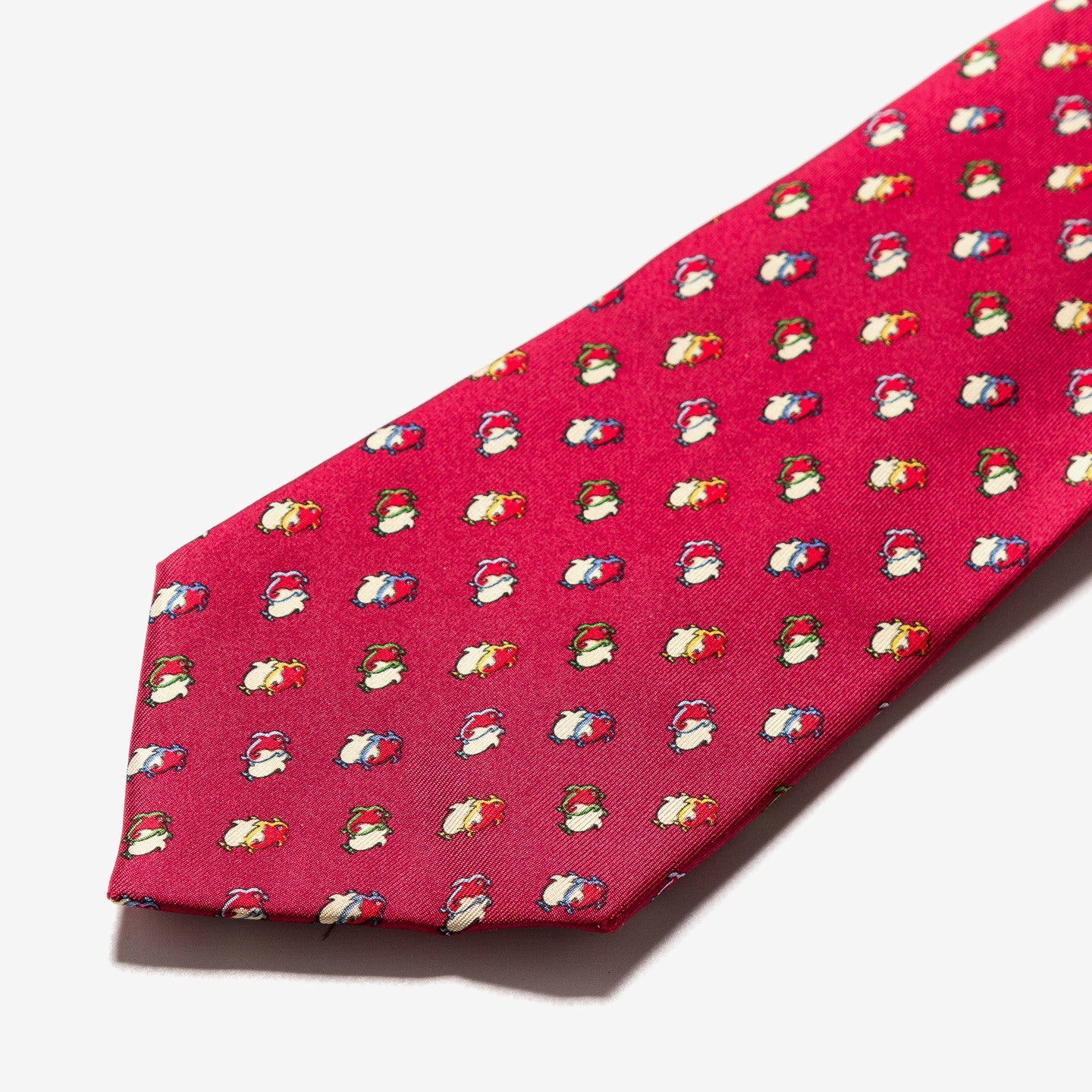 Salvatore Ferragamo / Printed Red Silk Tie