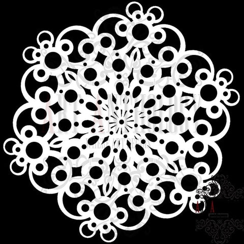 Large Doily  Stencil 10x10