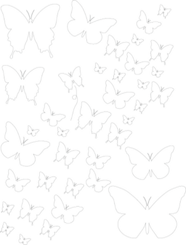Chasing Butterflies Stencil - Art Anthology