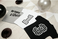 White Monochrome Number Birthday T-shirt - Mini Kings & Queens