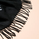 Personalised Adult Black Woven Scarf