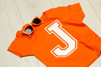 Personalised Orange Initial T-shirt - Mini Kings & Queens