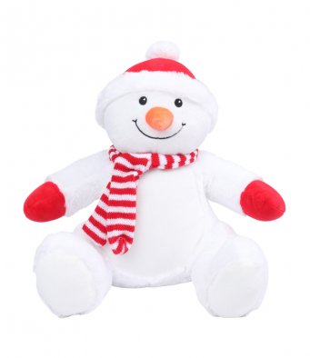 Personalised Your Own Large Snowman Teddy - Mini Kings & Queens
