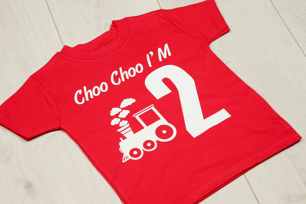 Personalised Choo Choo Birthday T-shirt - Mini Kings & Queens