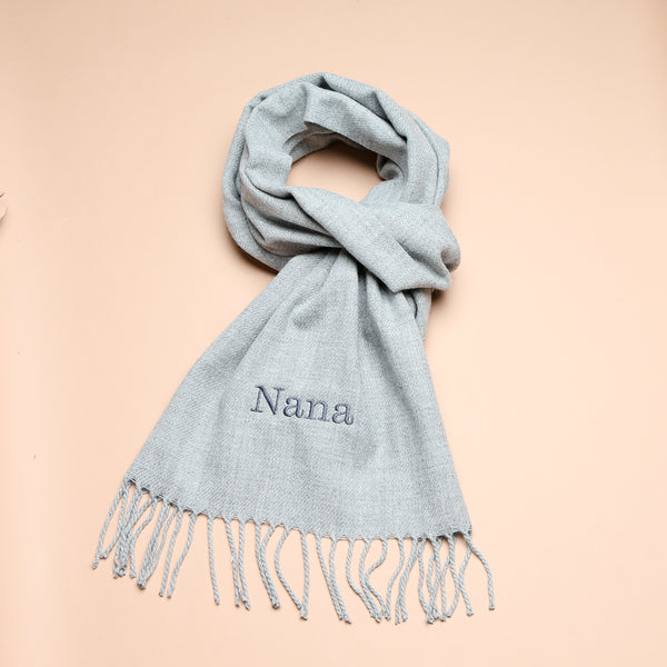 Personalised Adult Grey Woven Scarf