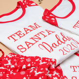 Personalised Family Matching Team Santa Christmas Pyjamas
