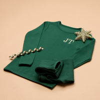 Personalised Forest Green Ribbed Loungewear