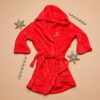Personalised Embroidered Red Dressing Gown