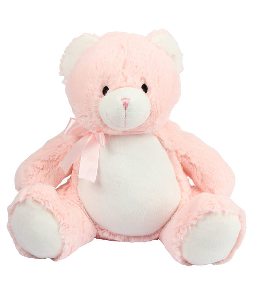 Personalise Your Own Large Baby Pink Teddy - Mini Kings & Queens