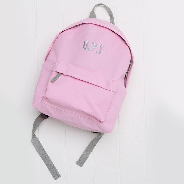 Embroidered Inital/Name Junior Backpack - Mini Kings & Queens