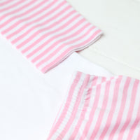 Personalised Pink and White Striped Princess Pyjamas