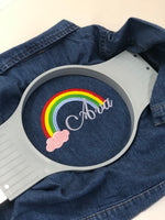 Personalised Rainbow Denim Jacket