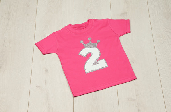 Royal Princess Pink Birthday T-shirt - Mini Kings & Queens