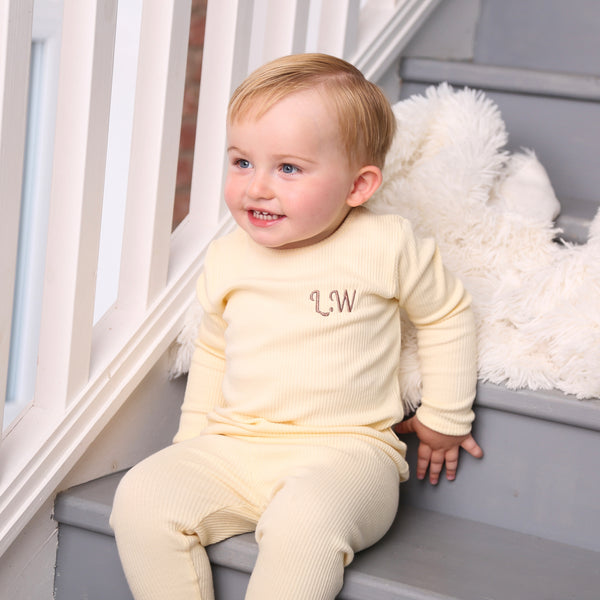Personalised Vanilla Ribbed Loungewear