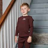Personalised Aubergine Ribbed Loungewear