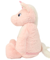 Personalise Your Own Large Pink Unicorn Teddy - Mini Kings & Queens