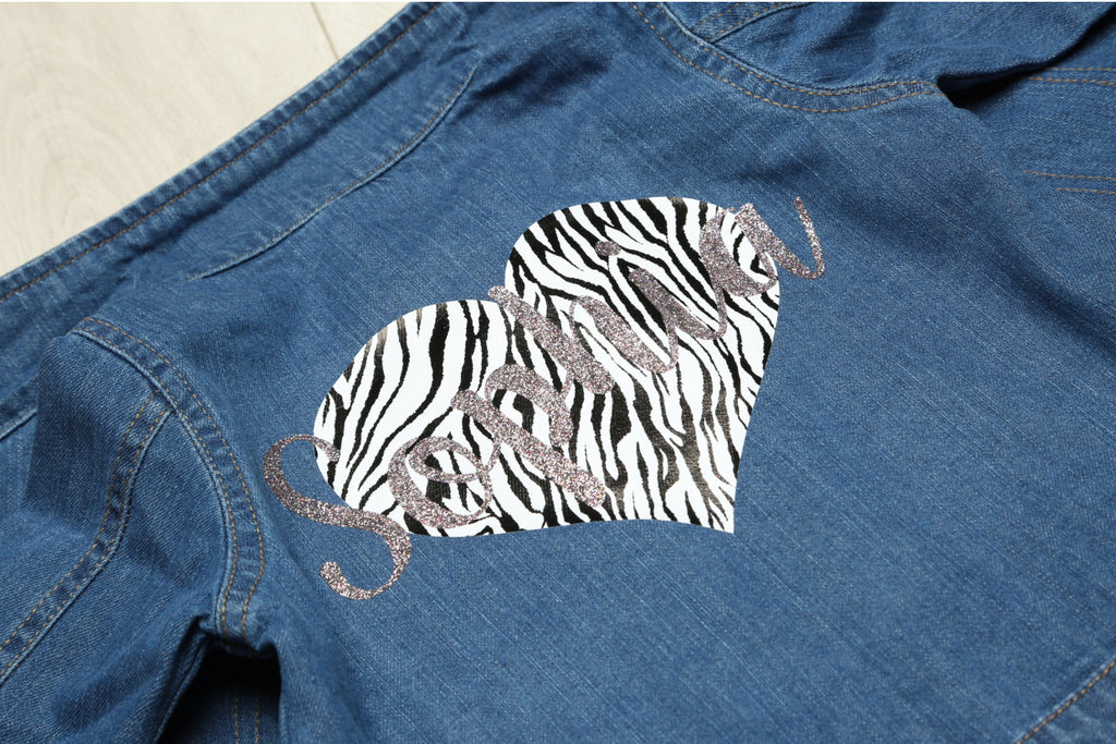 Personalised Baby Heart Denim Jacket - Mini Kings & Queens