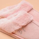 Personalised Faux Fur Pink Mule Slippers