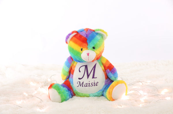 Personalised Rainbow Bear - Mini Kings & Queens