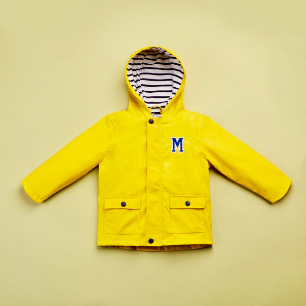 Personalised Varsity Initial Raincoat