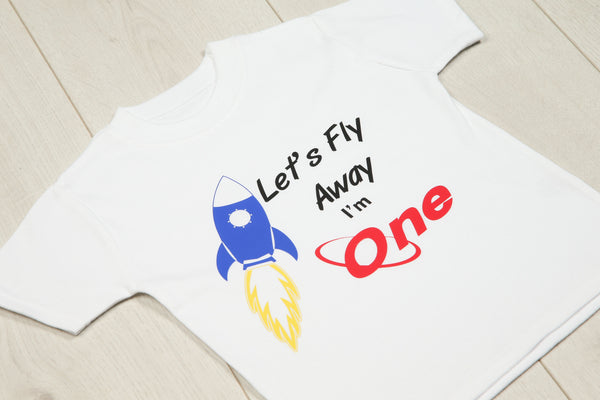 Personalised Let's Fly Away Birthday T-shirt - Mini Kings & Queens