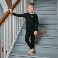 Personalised Black Ribbed Loungewear