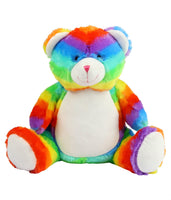 Personalise Your Own Rainbow Bear Teddy - Mini Kings & Queens