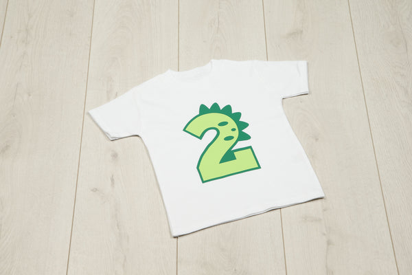 Dinosaur Number T-shirt - Mini Kings & Queens