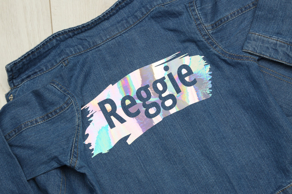 Personalised Baby Paint Splat/Stroke Denim Jacket - Mini Kings & Queens