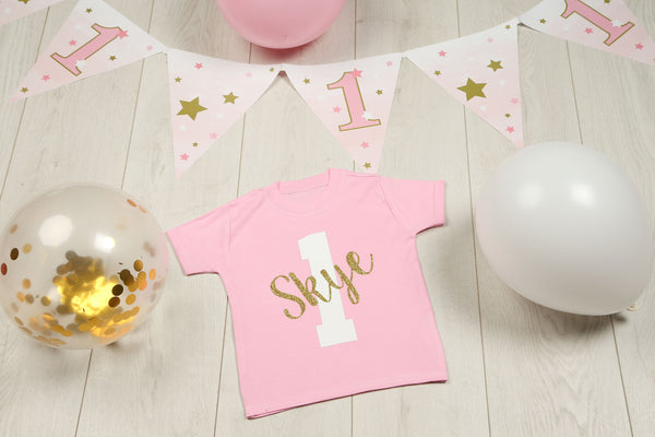 Girls 1st Birthday T-shirt - Mini Kings & Queens