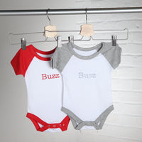 Personalised Contrast Grey Baby Vest