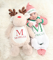 Personalised Large Reindeer Teddy - Mini Kings & Queens