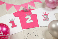 Royal Princess Pink Crown T-shirt - Mini Kings & Queens