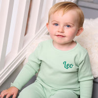Personalised Mint Ribbed Loungewear