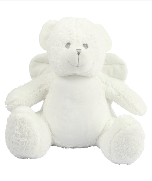 Personalise Your Own White Angel Wings Teddy - Mini Kings & Queens