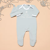 Personalised My 1st Christmas Grey Babygrow and Hat Set
