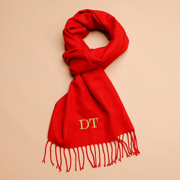 Personalised Adult Red Woven Scarf