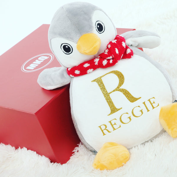 Personalised Initial Penguin Teddy - Mini Kings & Queens