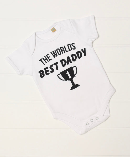 The Worlds Best Daddy Baby Vest - Mini Kings & Queens