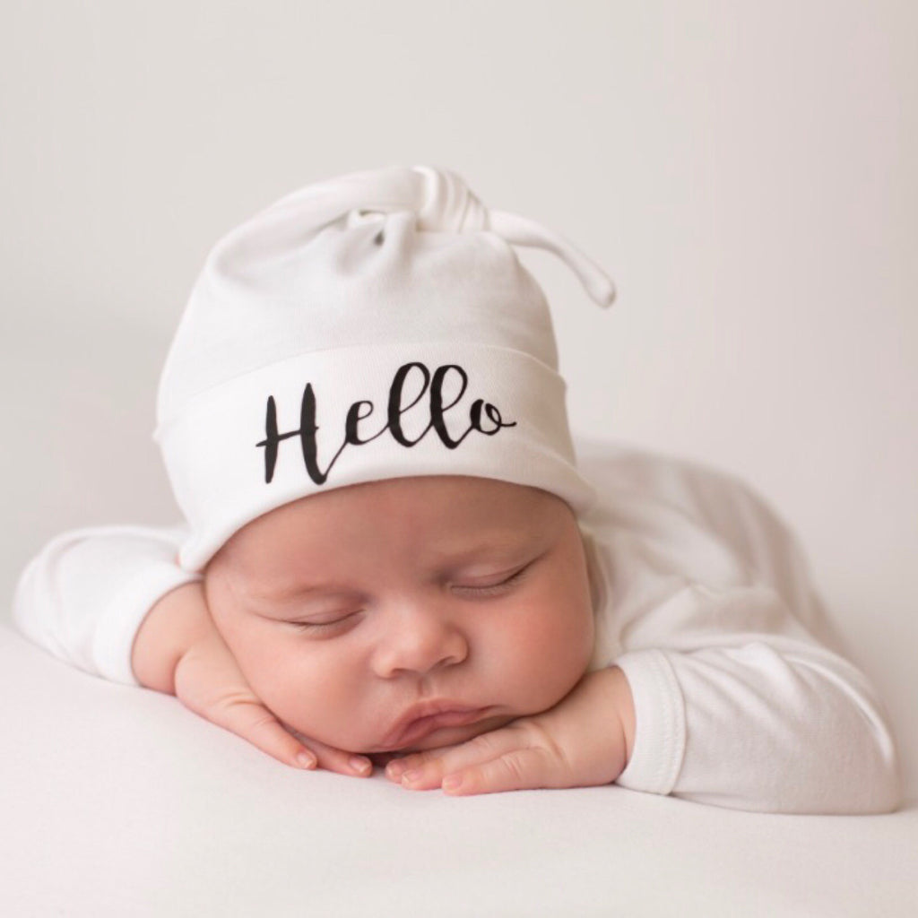 26310a9ec0d60 Hello Personalised Baby Hat - Mini Kings   Queens