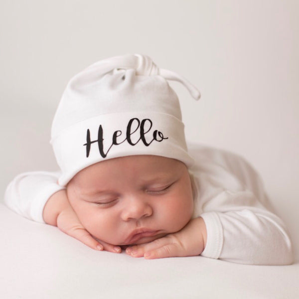 Hello Personalised Baby Hat - Mini Kings & Queens