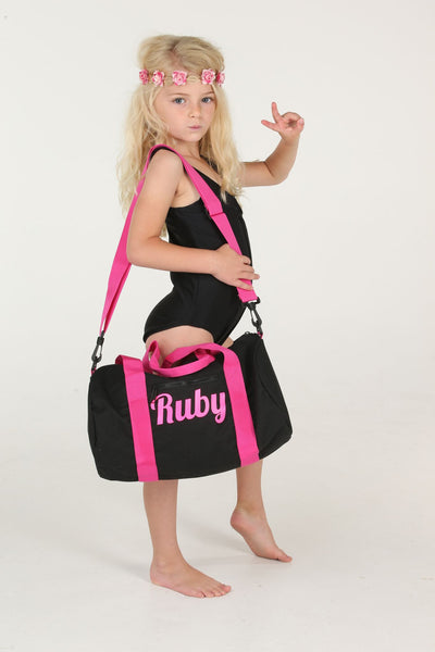 Hot Pink Personalised Mini Barrel Bag - Mini Kings & Queens