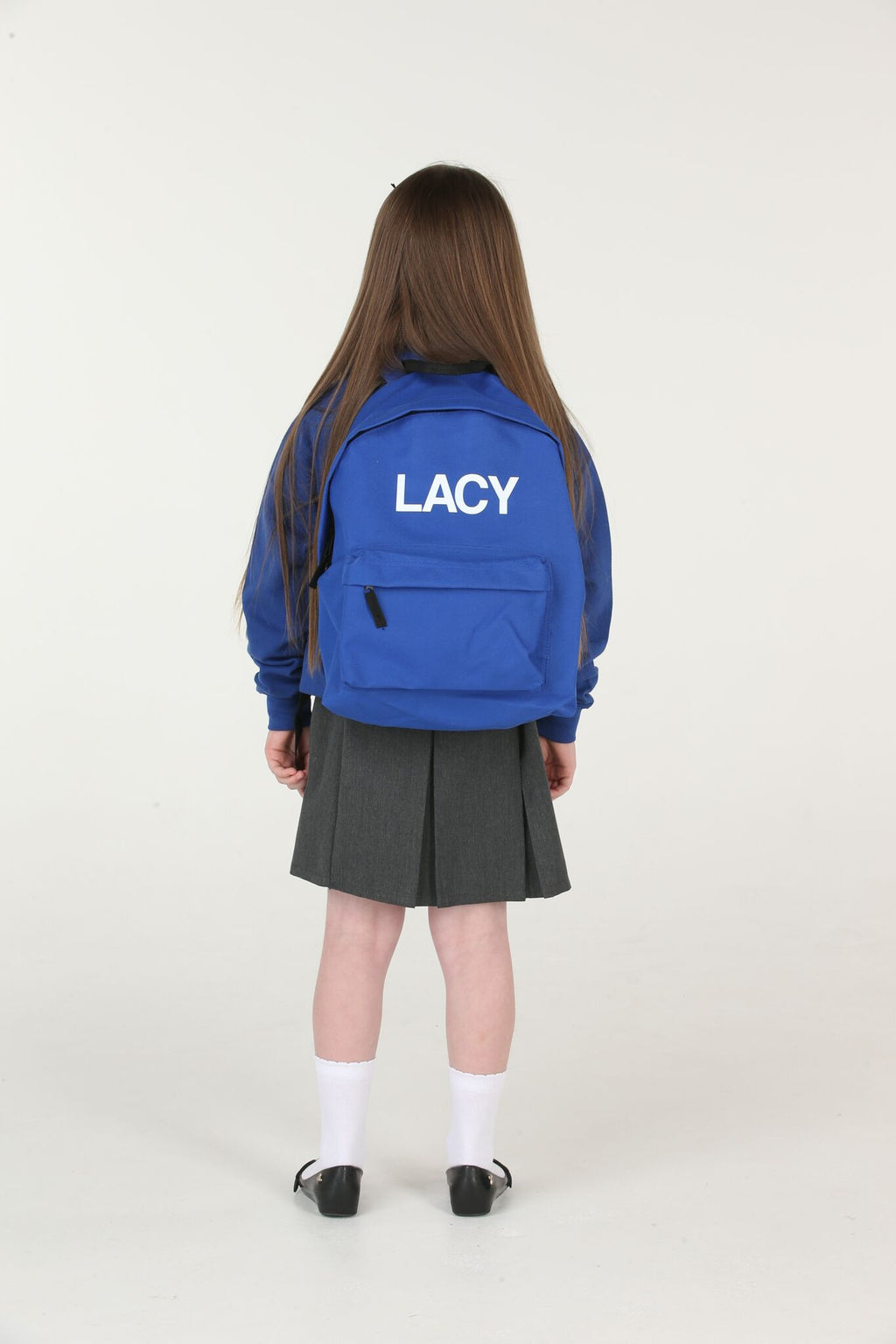 Personalised Royal Blue School Backpack - Mini Kings & Queens