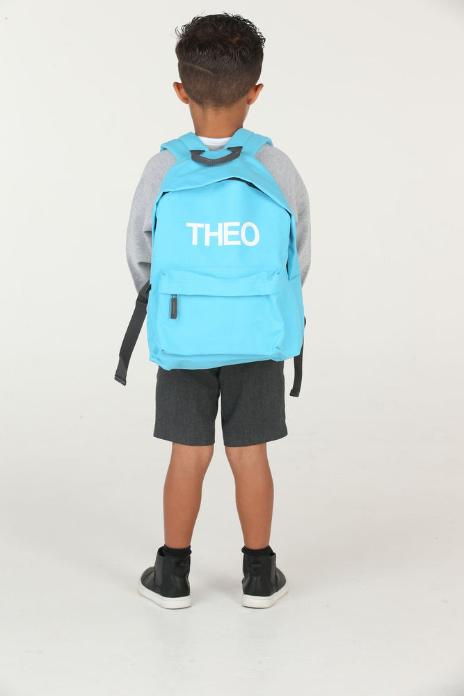 Personalised Surf Blue School Backpack