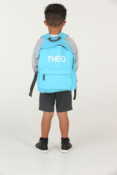 Personalised Surf Blue School Backpack - Mini Kings & Queens