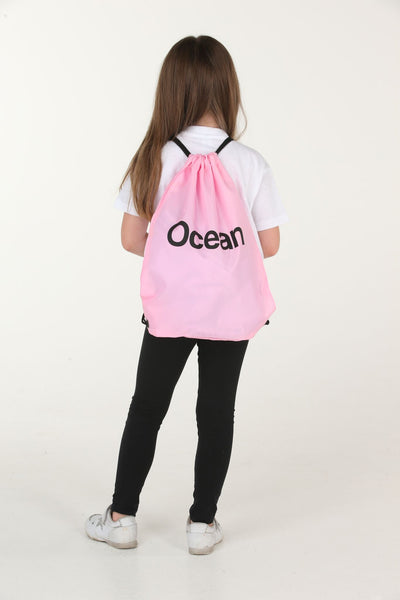 Personalised Baby Pink Drawstring Bag - Mini Kings & Queens