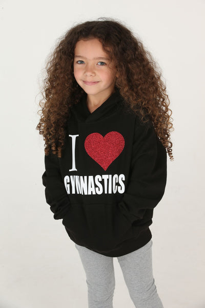 I Love Gymnastics Hoodie - Mini Kings & Queens