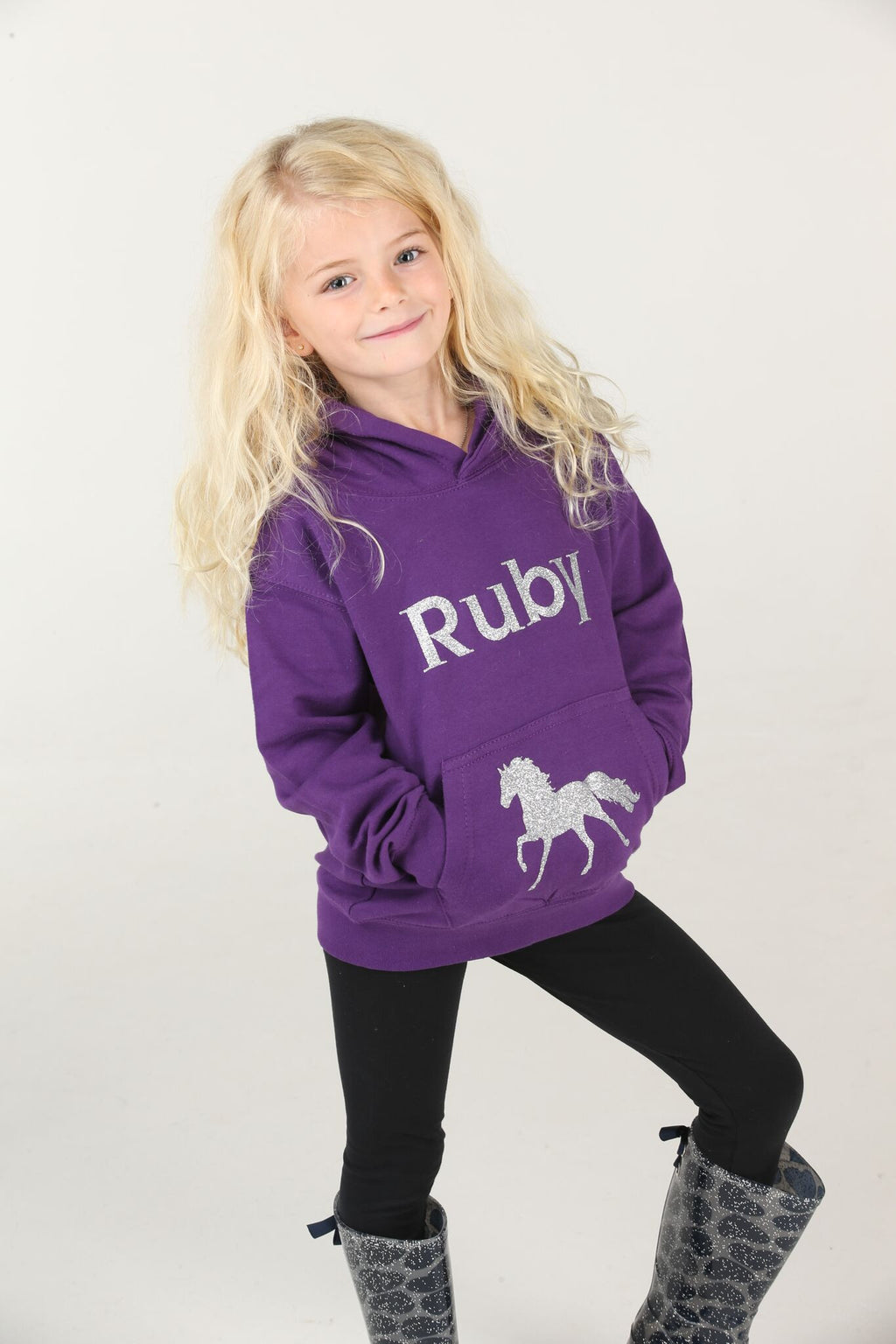 Personalised Horse Riding Hoodie - Mini Kings & Queens